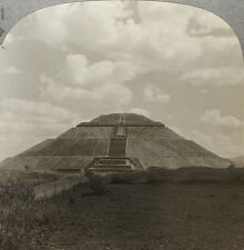 Keystone Stereoview of the Pyramid of the Sun in MEXICO From 1200 Card Set # 91