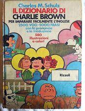 SCHULZ IL DIZIONARIO DI CHARLIE BROWN RIZZOLI PRIMA EDIZIONE 1975