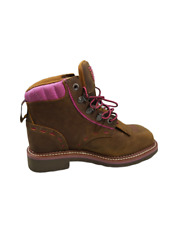 NWOT $155 Dan Post Womens Brown Pink Janesville Work Boots Size 6 M
