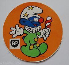 Aufkleber BP Schlümpfe Clownschlumpf 70er Jahre Sticker smurfs Peyo Youngtimer