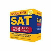 Barron's SAT Vocabulary Flash Cards 500 Flash Cards to Help You #5580