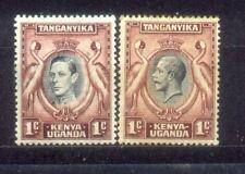Kenya Uganda Tanganyika KUT 2 Old Stamps MH