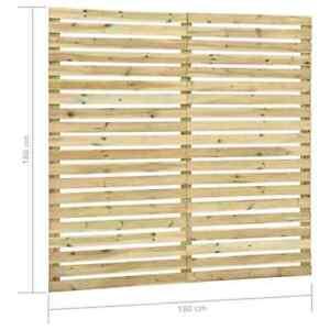 vidaXL Holz Kiefernholz Zaunelement 180x180cm Gartenzaun Sichtschutzzaun Zaun DE