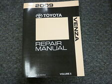 2009 Toyota Venza Door Lock Keyless Display Gauge Shop Service Repair Manual