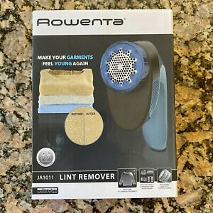 New Rowenta JA1011 Portable Lint Remover Shaver Adjustable Shave Height Blue