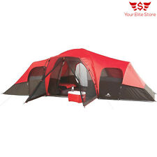 Ozark Trail Large Camping Tent Family 10 Person Outdoor Hiking Shelter 3 Room