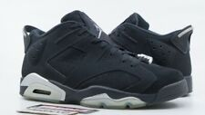 AIR JORDAN VI 6 RETRO LOW USED SIZE 10.5 CHROME BLACK METALLIC SILVER 304401 003