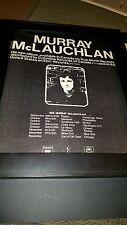 Murray McLauchlan Rare Original Tour Promo Poster Ad Framed!