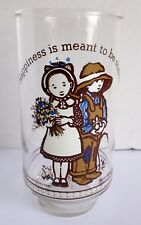 Vintage Coca Cola Glass Holly Hobbie Happy Talk Happiness Meant To Be Shared