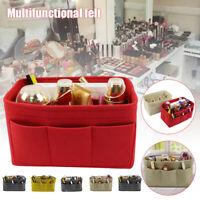 Multi-Pocket Insert Bag Felt Fabric Handbag Liner Tote Makeup Organizer Bag
