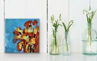 """6x6"""" Mini Abstract Artwork Modern Painting Gifts Colorful Free Ship- Forever 6"""