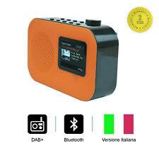 """Smith-Style Radio Digitale Bluetooth DAB+ FM con Sveglia, Schermo a 2,4""""-Arancio"""