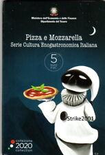 NEW !!! 5 EURO COMMEMORATIVO ITALIA 2020 Fdc PIZZA e MOZZARELLA in folder Zecca