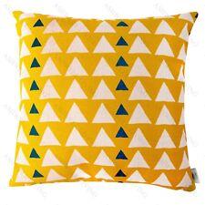 SUNGLOW-Geometric Home Decor Linen Cotton Cushion/Throw Pillow Cover Yellow