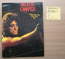 ALICE COOPER RAISE YOUR FIST TOUR PROGRAMME + Ticket stub Manchester Apollo 1988