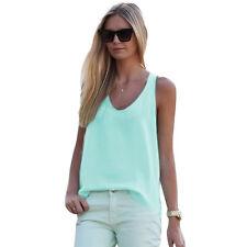 Hot Womens Summer Sexy Vest Top Sleeveless Shirt Blouse Casual Tank Tops T-Shirt