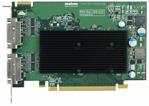MATROX M9125 512MB M9125-E512F F7352-01 PCI-E 2x DVI-I