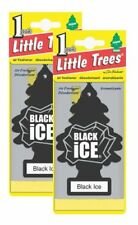 Little Trees Hanging Car and Home Air Freshener, Black Ice Scent Pack of 2