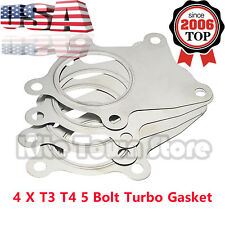 4 X NEW MAK T3 T4 5 Bolt Stainless Steel Turbo Discharge Gasket A/R.63 Flange US