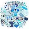 50pcs Blue Skateboard Stickers Bomb Vinyl Laptop Luggage Decals For VSCO Girl