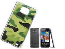 COVER FLIP COMPATIBLE SAMSUNG S2 SII SOFT CAMOUFLAGE MILITARY GREEN BLACK