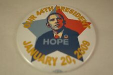 "3"" - 2009 PRES. BARACK OBAMA INAUGURATION- ""HOPE"" S. FAIREY - BUTTON PIN-BACK"