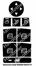 MERCEDES-BENZ WINDOW BUTTON DECALS STICKERS W204 C250 C300 C350