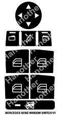 MERCEDES-BENZ WINDOW BUTTON DECALS STICKERS W204 C250 C300 C350