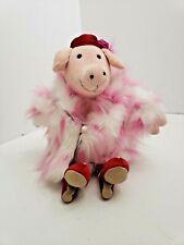 JELLYCAT MEDIUM FURCOAT Piggy STUFFED Animal PLUSH PIG red heels New w/tags