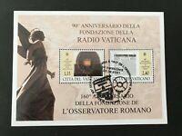 2021 - VATICANO - 90 ANNIVERSARIO RADIO VATICANA e 160 OSSERVATORE ROMANO