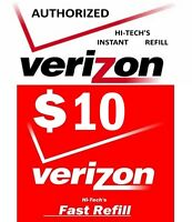 $10 VERIZON FASTEST ONLINE DIRECT PREPAID REFILL > 25yr USA TRUSTED DEALER <