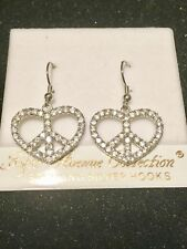 Earrings, Fifth Avenue Collection, Discontinued, Rare A Peace Of My Heart Hook