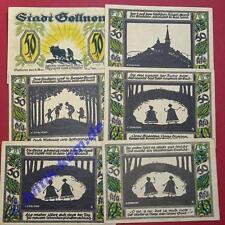 6 x Top Notgeld Gollnow , Glockensage , alle 50 Pf. 6 Scheine komplett , kfr/unc
