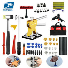 Paintless Repair PDR Tools Dent Puller Lifter Auto Body Ding Removal Red Bag Kit