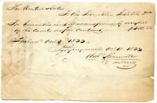 1833 Rent Bill Due to the United States for the Franklin Institute Philadelphia