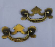 Pair of Vintage Brass Drawer Pulls Furniture Restoration DC4 A657 Chippendale