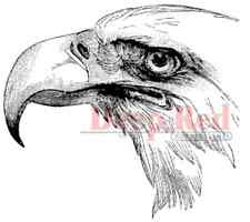 Deep Red Cling Rubber Stamp Rubber Stamp Bald Eagle Freedom Profile