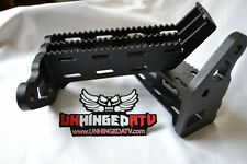 1986-1987 TRX 250R Foot Pegs with Integrated Kick Ups- A36 Steel - Unhinged ATV