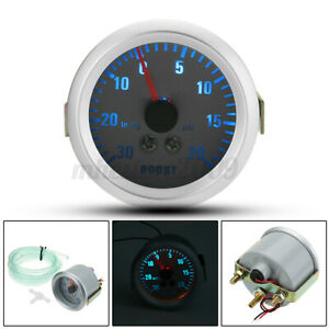 2'' 52mm LED Turbo Boost Vacuum Press Pressure Gauge Meter 0~20PSI Universal