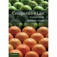 Comparative Law (Law in Context), 2e by Mathias Siems 9781316633557 Cond=LN:NSD
