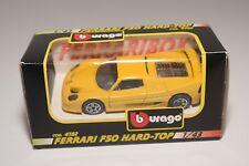 V 1:43 BBURAGO BURAGO 4182 FERRARI F50 HARD-TOP YELLOW MINT BOXED