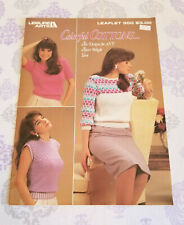 Leisure Arts COLORFUL COTTONS Six Designs for Any Sport Weight Yarn NEW Sweaters