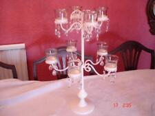 WEDDING CANDELABRA CENTRE PIECES CRYSTALS T-LIGHT CUP CAKE STAND (10 AVAILABLE)