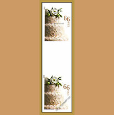 4735a Wedding Cake 66c Imperf Vertical Pair with Horizontal Gutter No Die Cuts