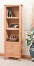 OAK BOOKCASE WITH 2 DRAWERS | HANDMADE TO ORDER