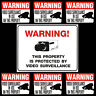 STORE SECURITY SYSTEM VIDEO CAMERAS RECORDING WARNING SIGN+DOOR STICKER LOT