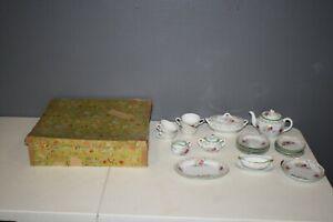 Vintage Porcelain Child's Tea Party Dish Set 27 Piece Little Hostess Set Japan