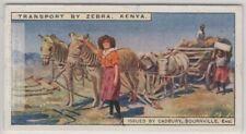 Zebra Transport Wagon Kenya Africa 90+ Y/O Trade Ad Card