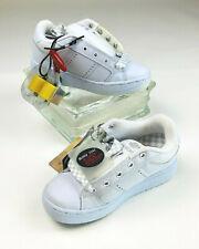 Heelys NWT Unisex Boys-2/Girls-3 White/Siver Kids Sneakers Yellow Wheels w/Tools