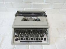 Vintage Olivetti Underwood Typewriter Lettera 31 Style Manual Gray Plastic Spain
